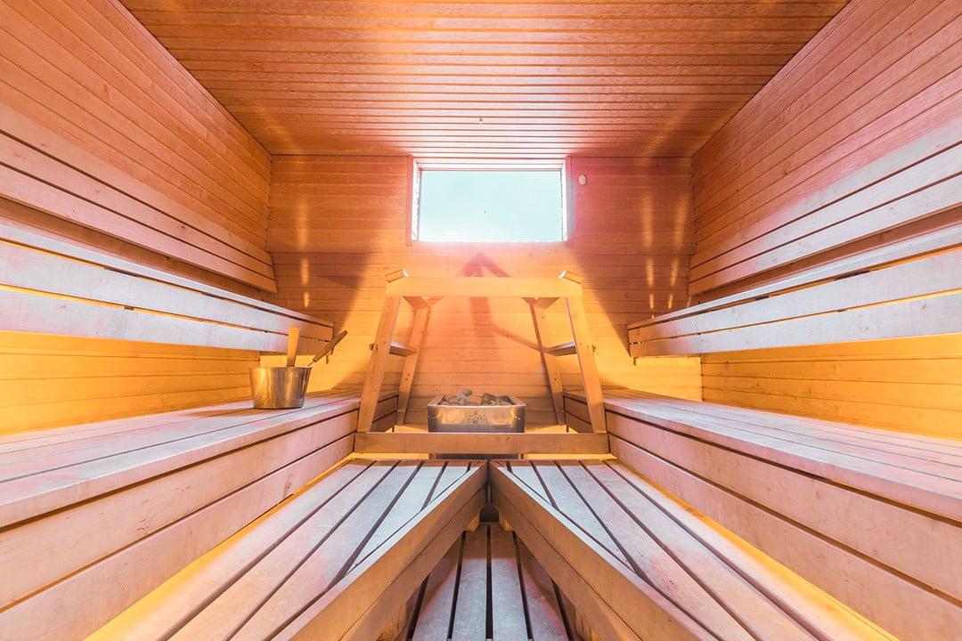 Koskikeskuksen kokous- ja saunatilat